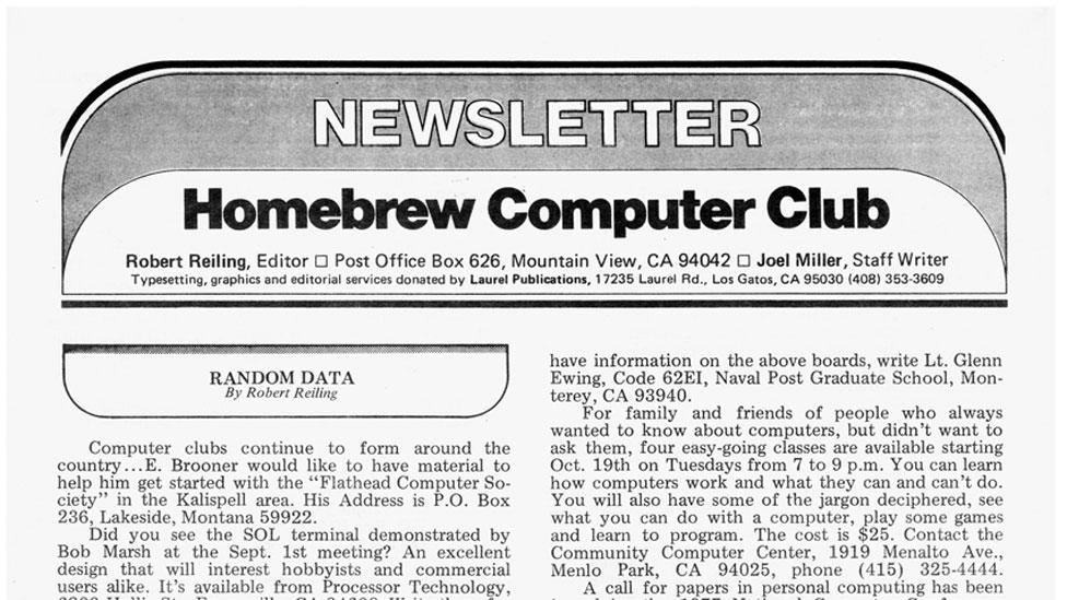 El boletín del Homebrew Computer Club