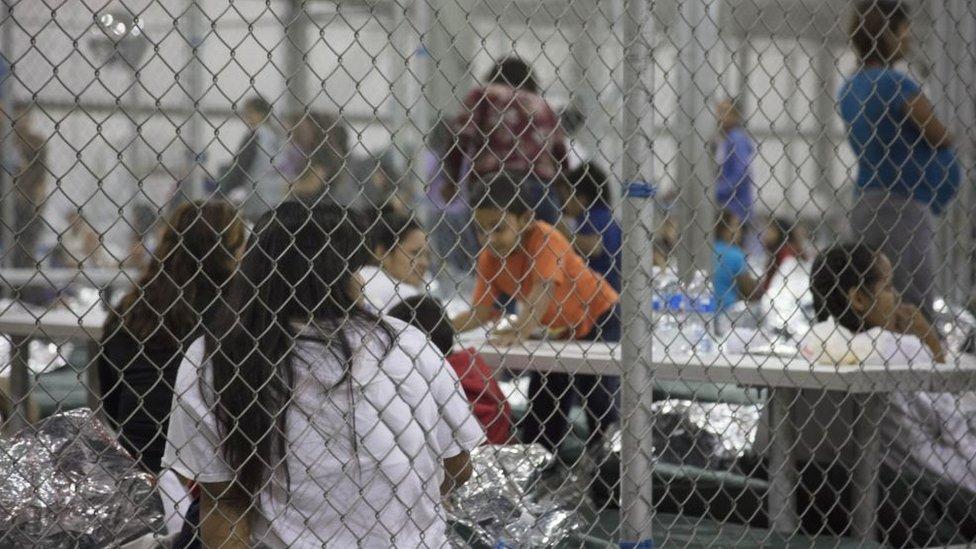 Centro de detención en McAllen, Texas.