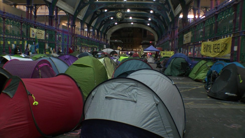 Tents at Smithfield market