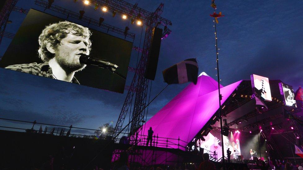 Ed Sheeran at Glastonbury 2017