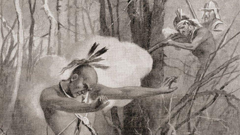 Metacom, el rebelde indígena, fue mutilado por los colonos tras su muerte.
