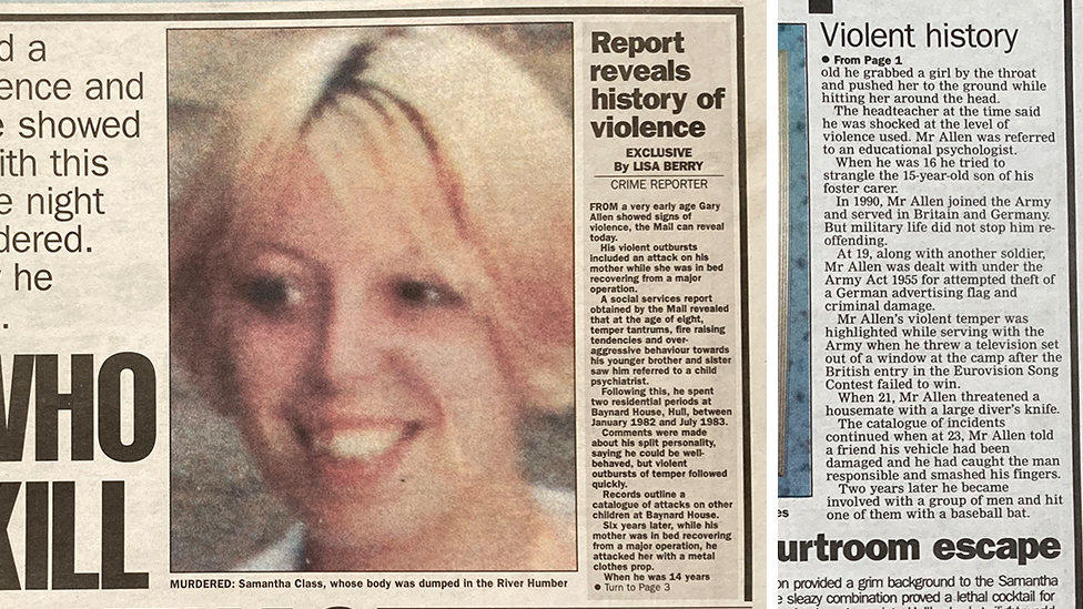 Hull Daily Mail article on Gary Allen in 2000