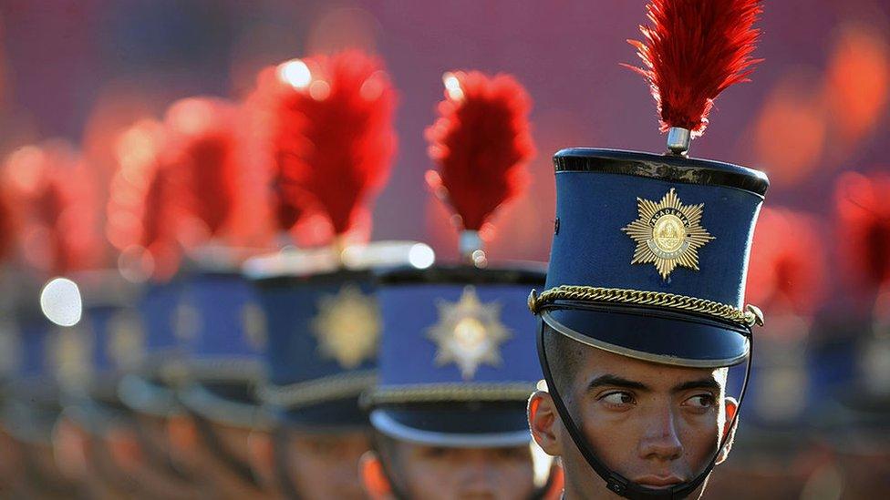 Cadetes de la academia militar Francisco Morazán.