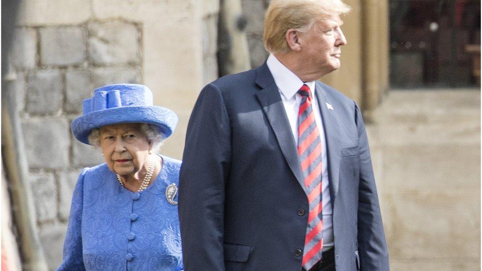 ترامب والملكة