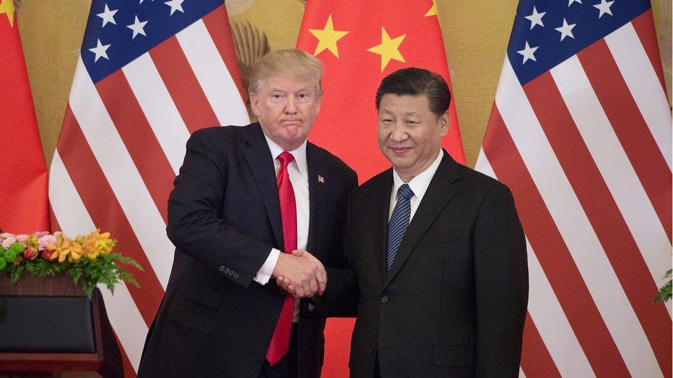El presidente de Estados Unidos, Donald Trump y el presidente de China, Xi Jinping.