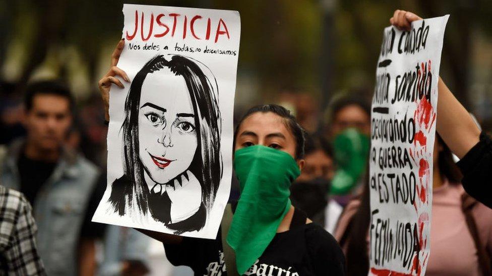 Protestas tras el feminicidio de Ingrid Escamilla.