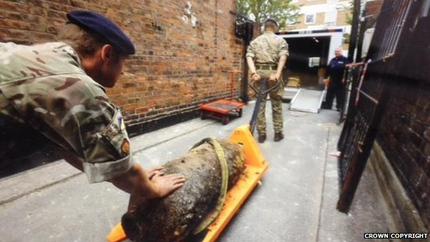 Army's removing the unexploded