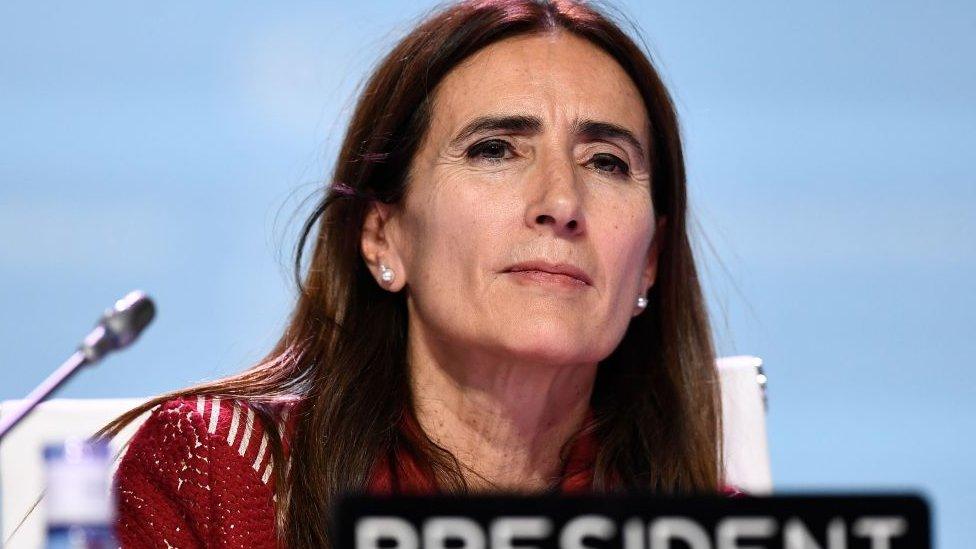 Carolina Schmidt, ministra de Medioambiente de Chile, durante la COP25 celebrada en Madrid.