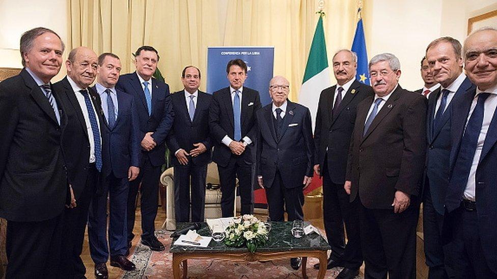 Kasım 2018'de İtalya-Palermo'da düzenlenen Libya toplantısında Sarraj, Sisi ve Hafter bir araya gelmişti