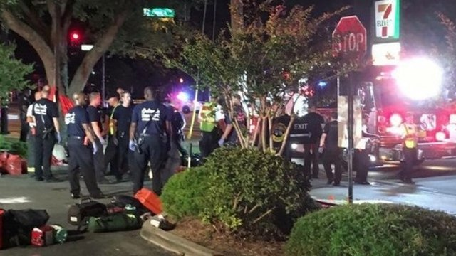 Scene outside Florida nightclub shooting