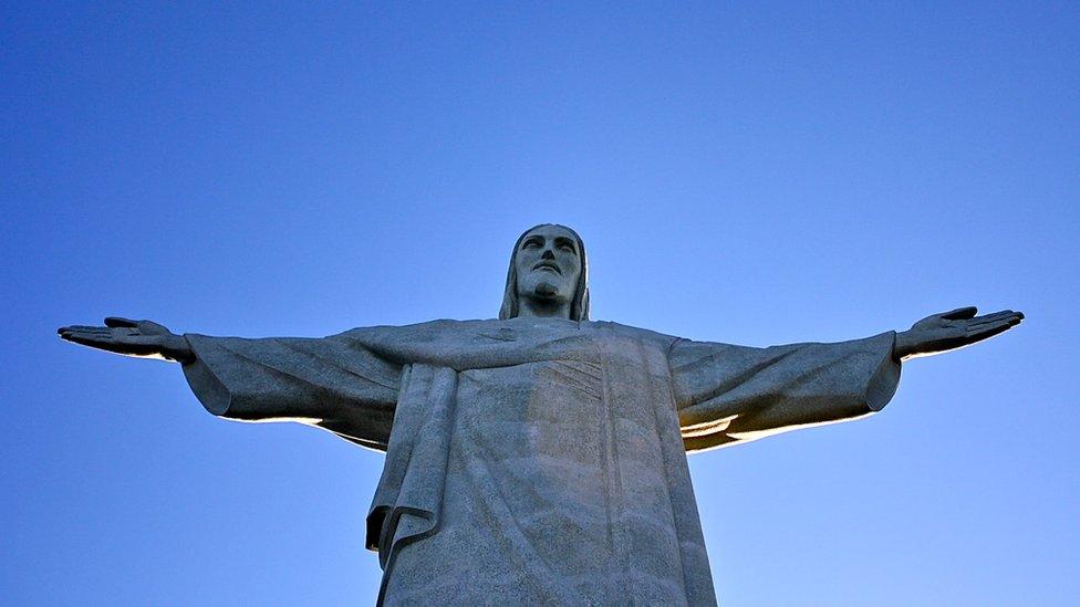 Foto atual do Cristo Redentor