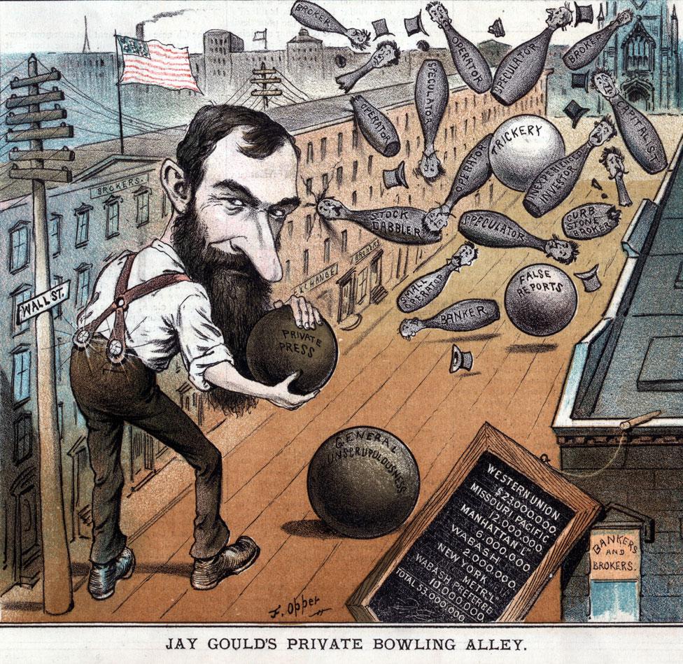 Una de las caricaturas más famosas de Jay Gould.