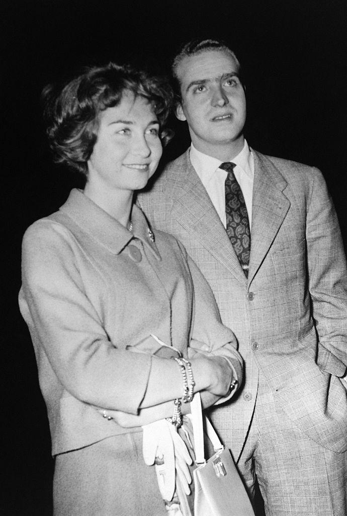 Sofía de Grecia y Juan Carlos de Borbón en abril de 1962.