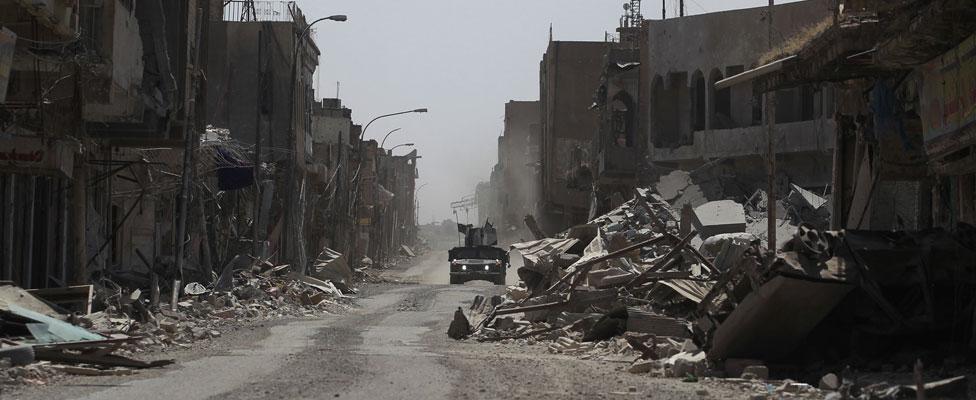 Damage in Mosul