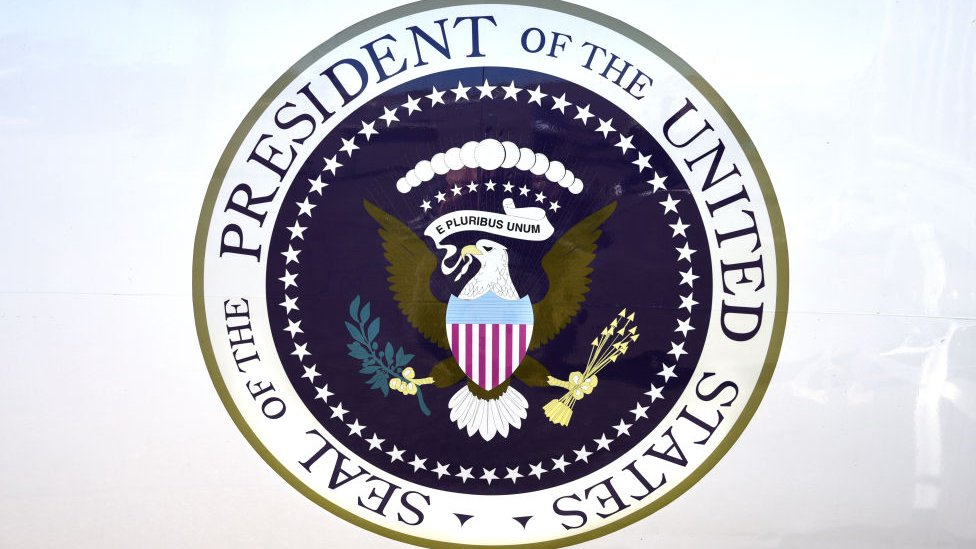 US presidential seal.