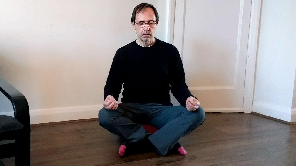Henri Astier meditates