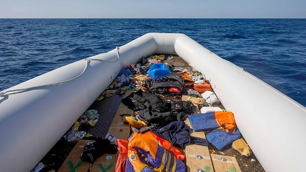 Akdeniz'de göçmenleri taşıyan tekne