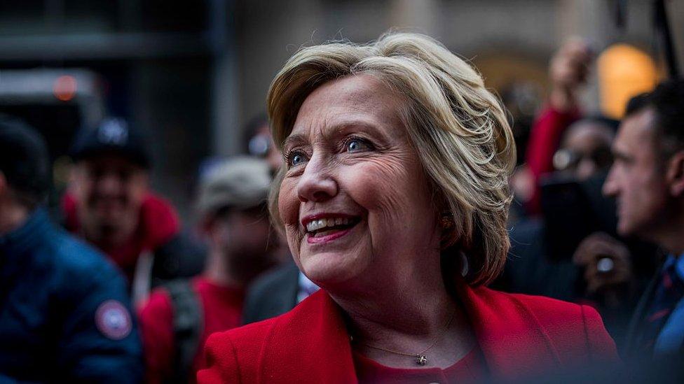 Hillary Clinton en la campaña.