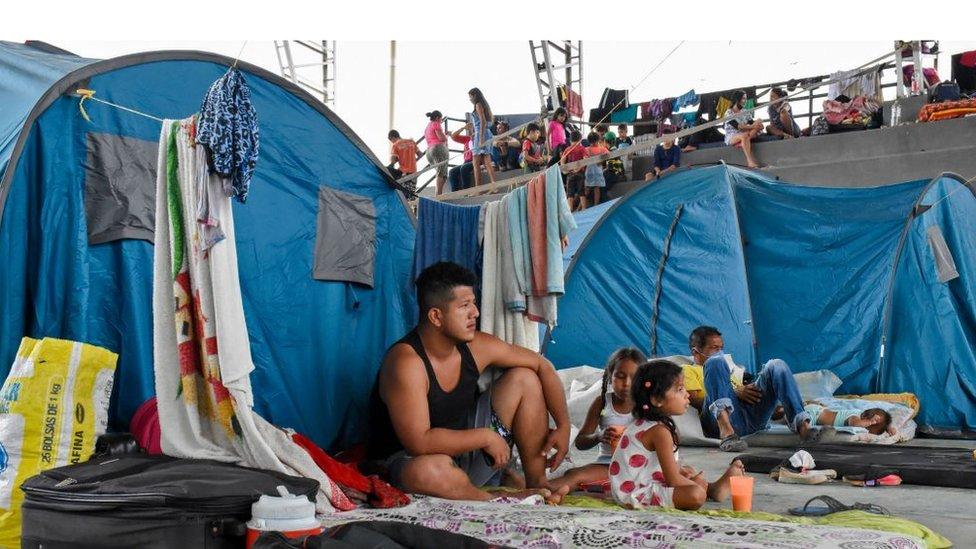 Desplazados venezolanos en Colombia.