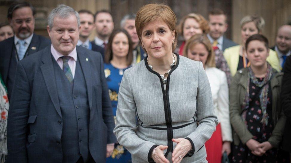 nicola sturgeon and SNP MPs