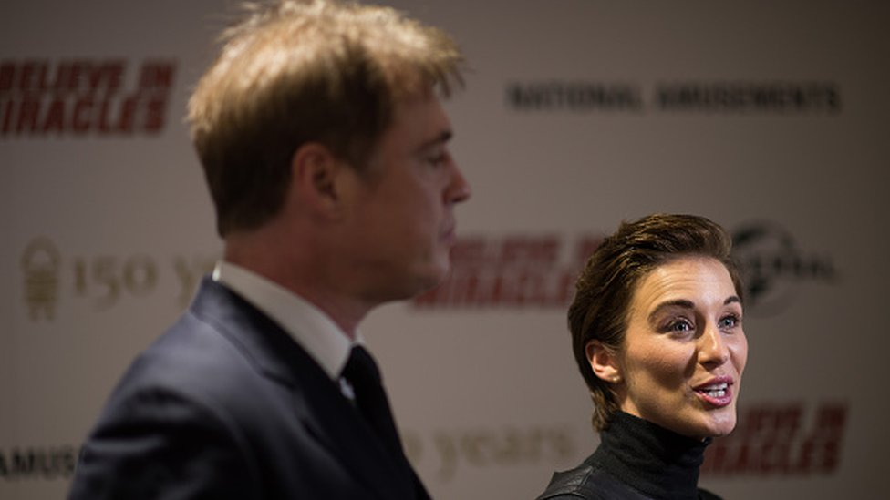 Director Jonny Owen with actress Vicky McClure