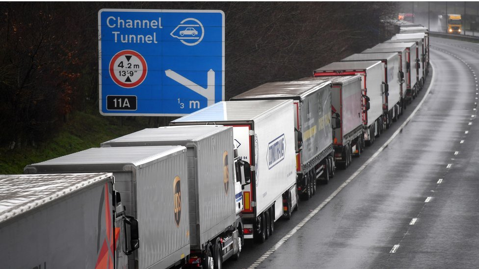Stranded lorry drivers