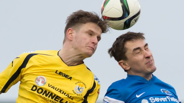 Action from Ballinamallard against Dungannon Swifts at Ferney Park