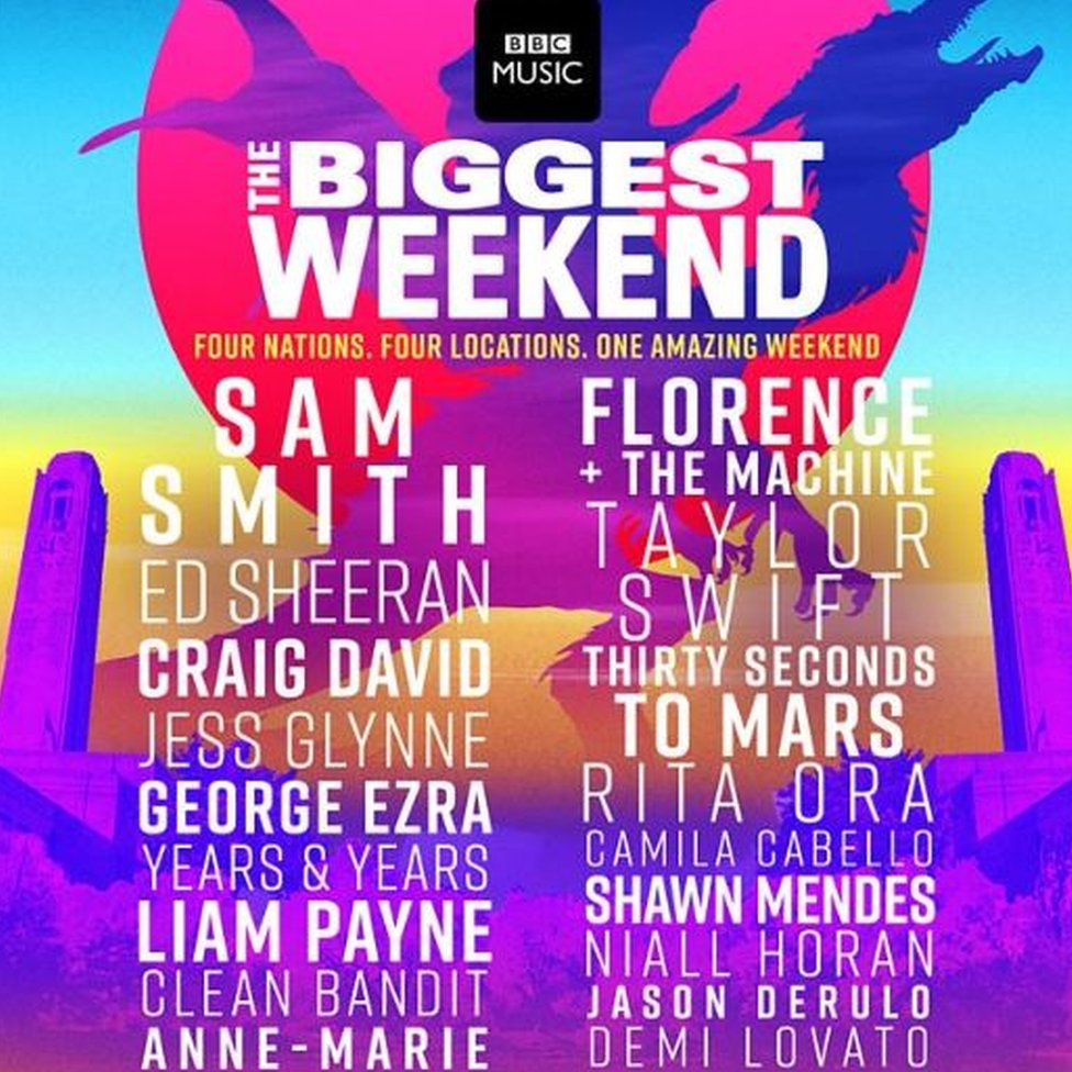 The Biggest Weekend line-up