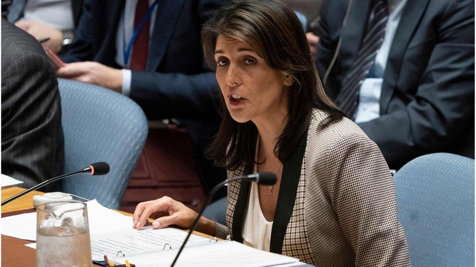 السفيرة الأمريكية لدى الأمم المتحدة