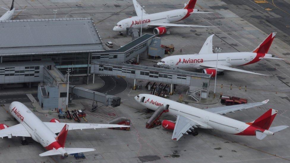 Aviones de Avianca.