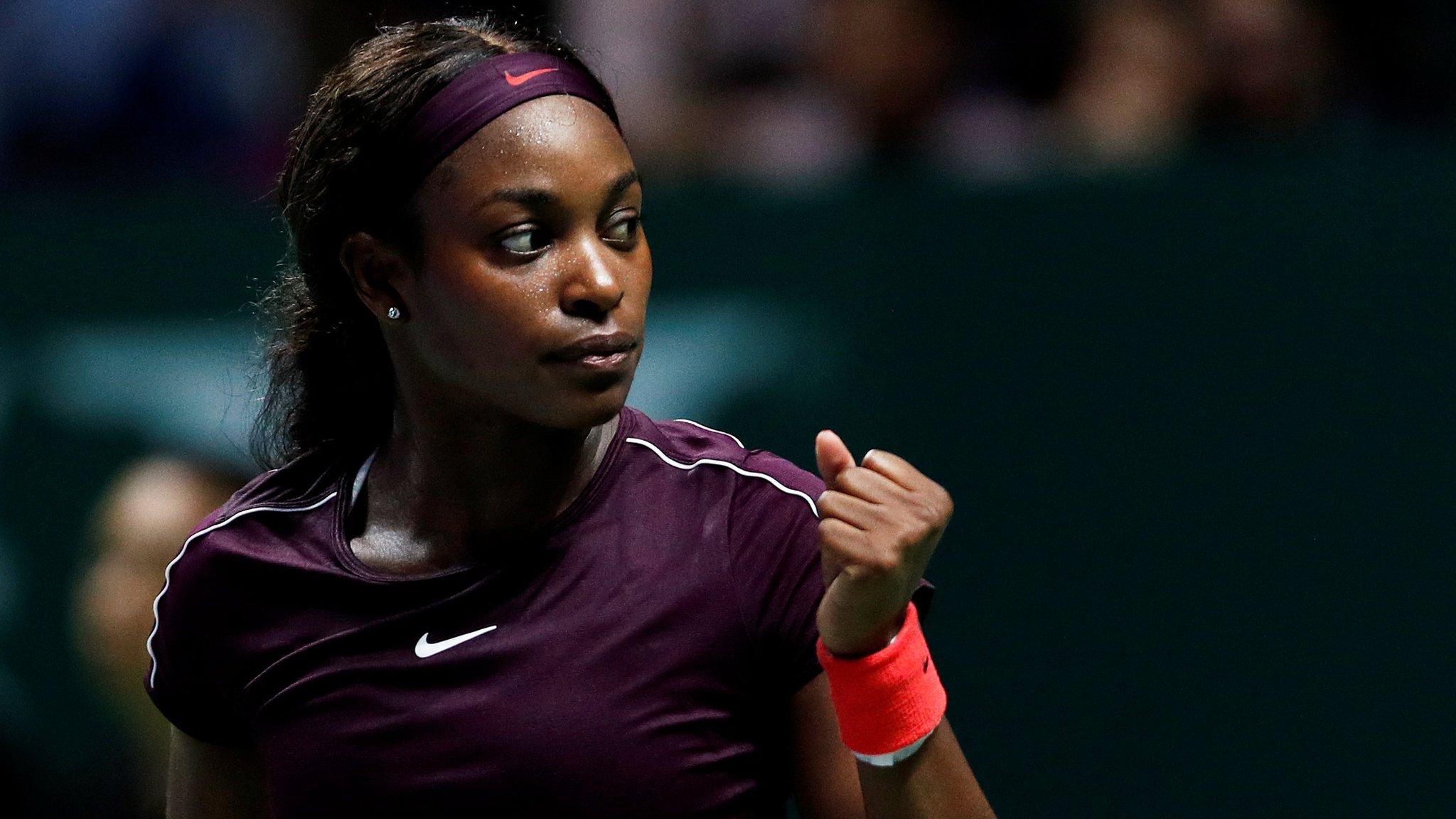 WTA Finals: Sloane Stephens beats Naomi Osaka in Singapore
