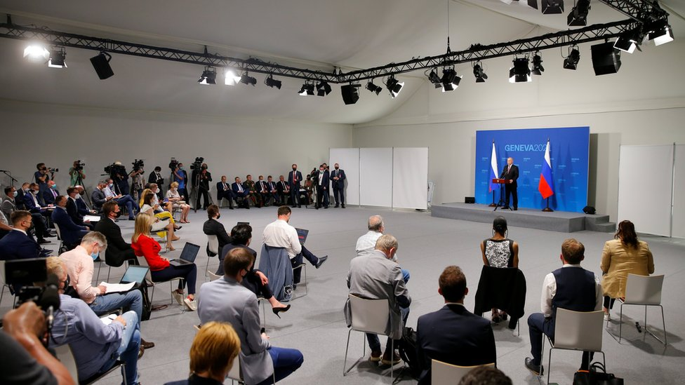 Putin en la rueda de prensa