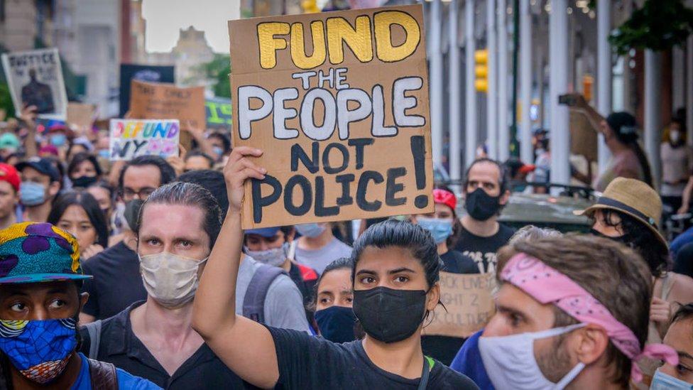 美國示威者
