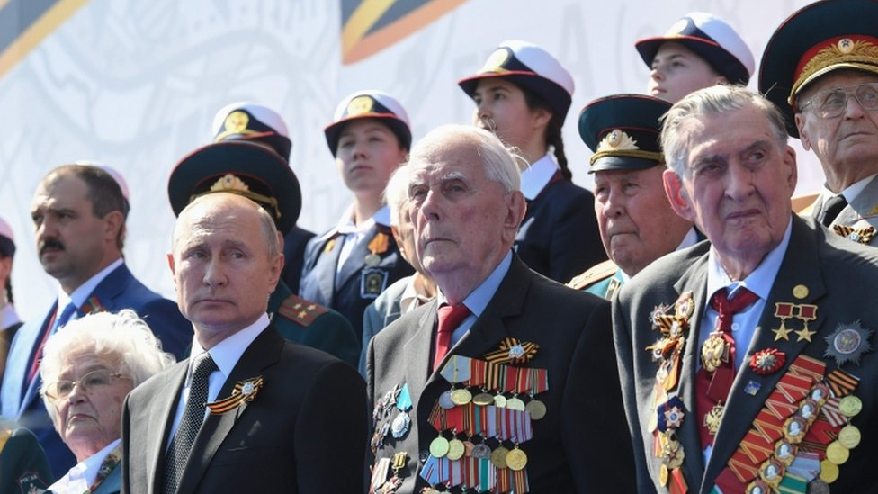Russian Parade Defies Pandemic As Putin Stages Power Bid Bbc News