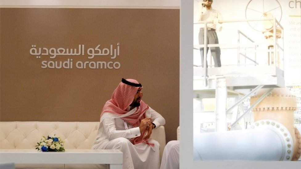 Saudi in Saudi Aramco's offices