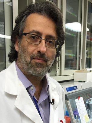 Nikos Vasilakis, an assistant professor in the university's pathology department.