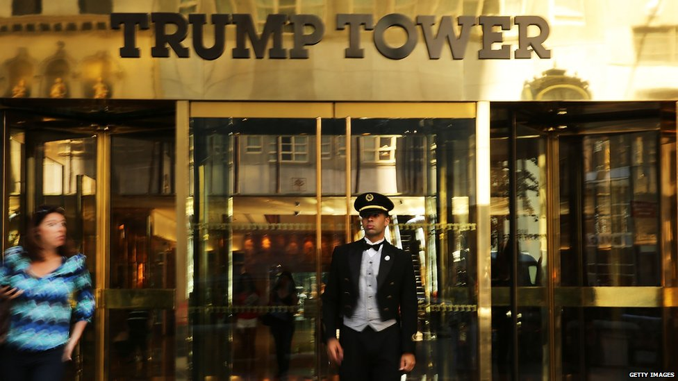The outside of Trump Tower in New York City.