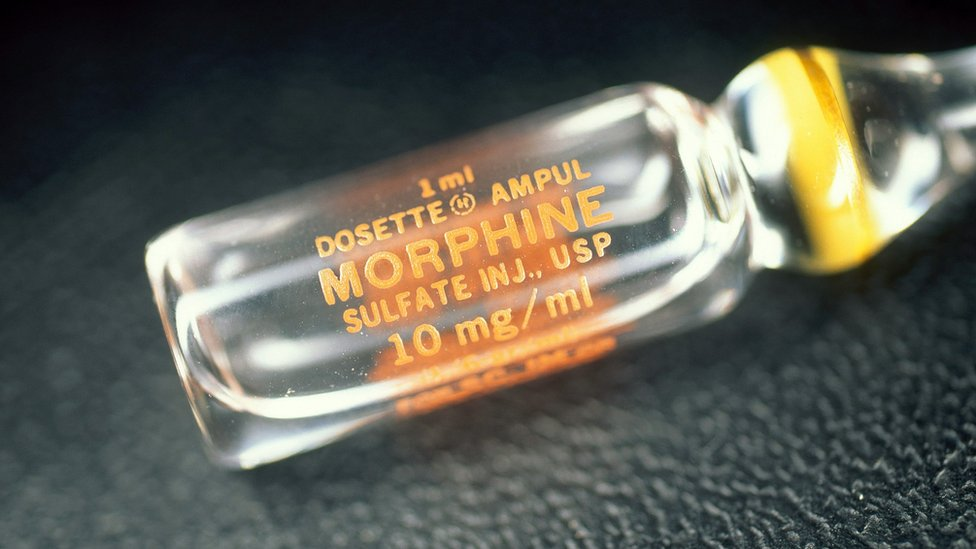 A vial of morphine