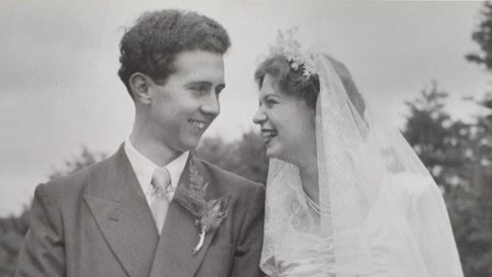 Bob i Norma Bisli na venčanju