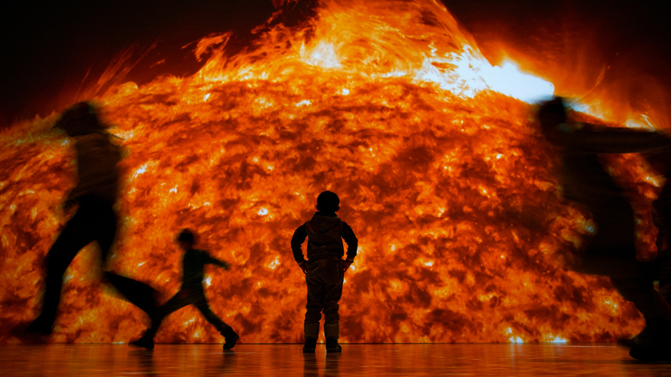'Sun' shows people the Sun's enormous power in 8K