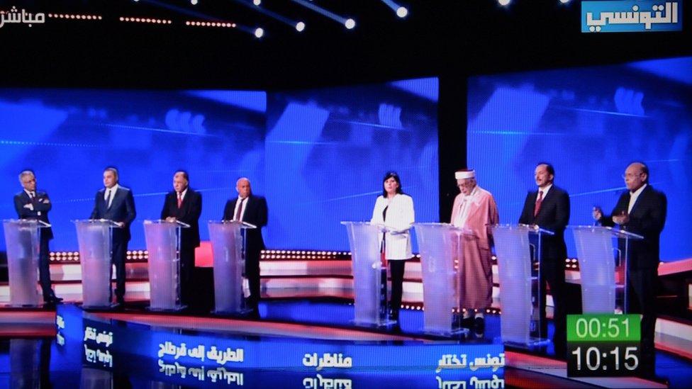 جانب من المناظرة بين المرشحين الرئاسيين قبل الانتخابات