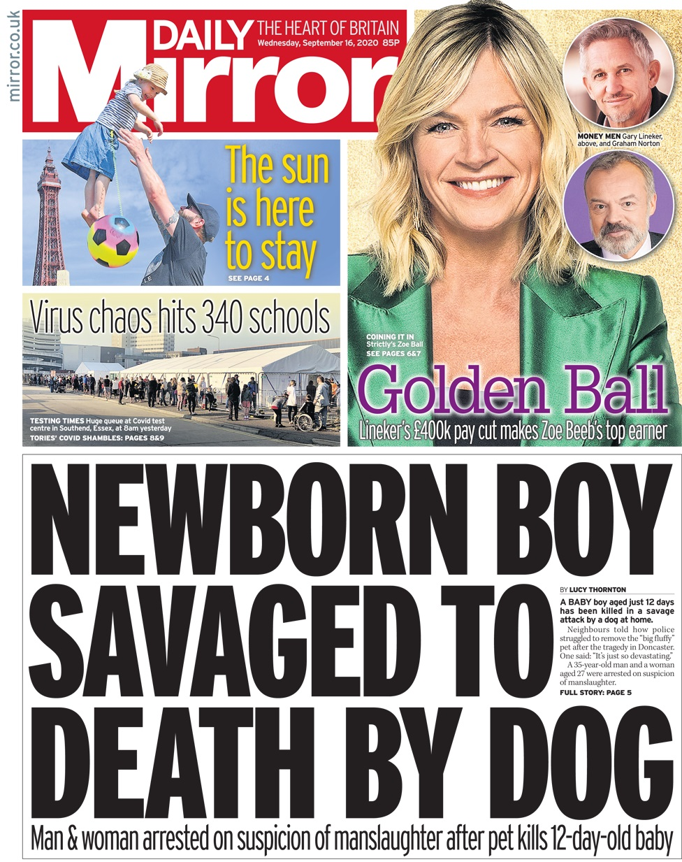 Daily Mirror 16 September