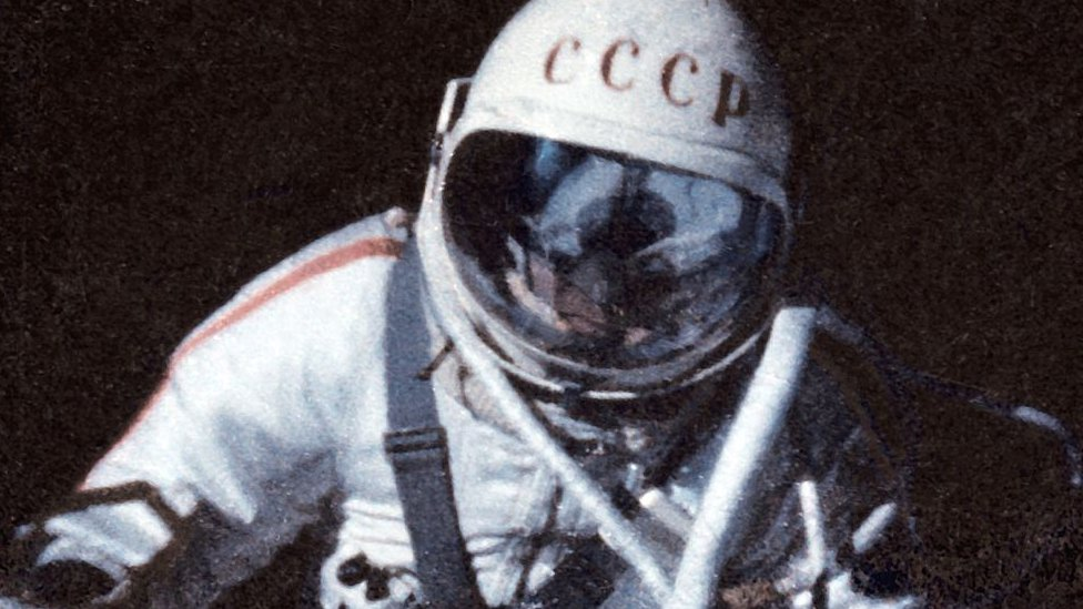 Alexei Leonov during his 1965 spacewalk