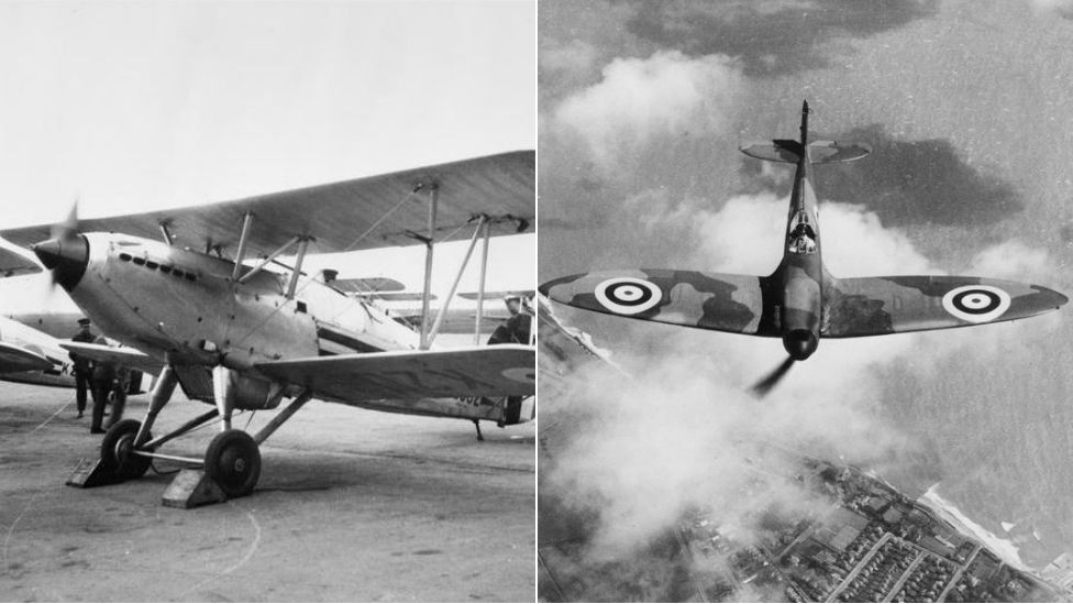 Hawker Fury and Spitfire