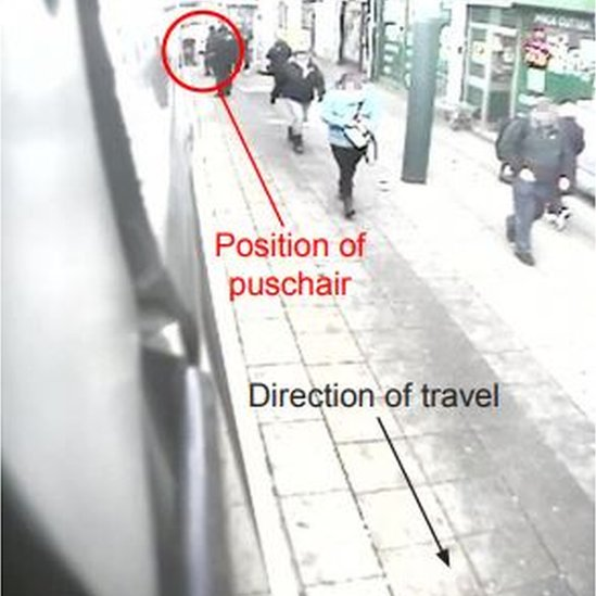 Driver's view of the pushchair