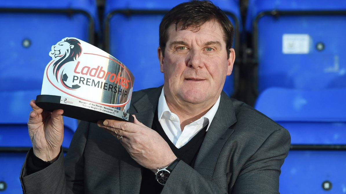 Tommy Wright: St Johnstone manager wins November award