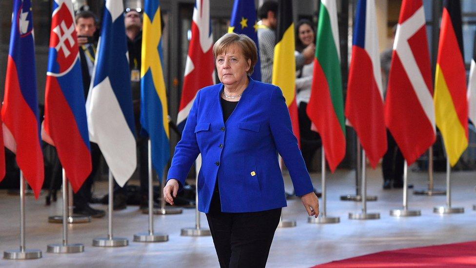 Angela Merkel en Bruselas.