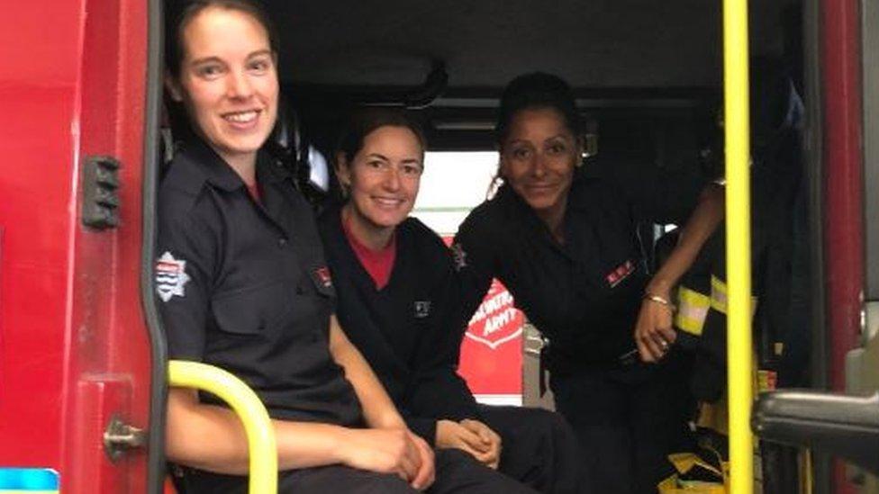 London Fire Brigade firewomen