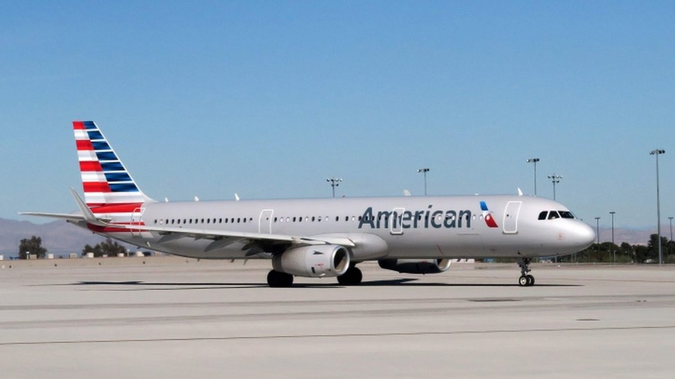 American Airlines suspends employee after clash over pram