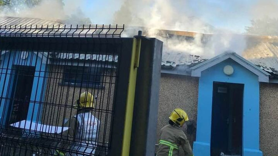 Institute Football Club: Oil tank fire was arson